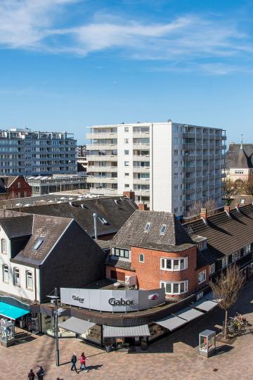 tiny appartement westerland Sylt ausblick vom balkon