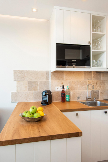 tiny-appartement, westerland-sylt - offene einbaukueche